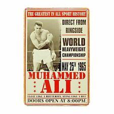 Muhammed Ali Greatest In All Sport History Vintage Retro Rusty Metal Sign Plaque