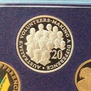 2003 20 cent Proof coin ex proof set in 2 x 2