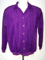 GU Graff Purple Long Sleeve Button Front Collared Top Womens Size Small 4 6