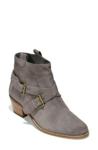 Cole Haan NEW Stormcloud Suede Cushioned Booties Shoes 8.5