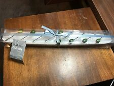 Joann Stores Ceramic Olive Boat Gift Set Serving Dish Bowl with skewers