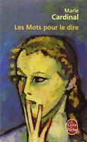 Mots Pour le Dire Paperback Marie Cardinal