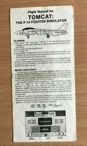 ATARI 2600 - TOMCAT: THE F-14 FIGHTER SIMULATOR - Instruction Manual