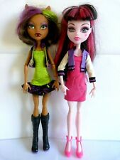 Clawdeen Wolf Scaremester with Draculaura Monster High Doll Bundle.