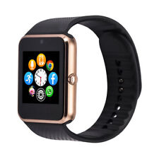 Bluetooth Smart Watch with Camera Text Call for Apple Iphone 5-X & Android Gold
