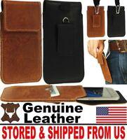# HANDY GENUINE LEATHER CASE COVER - BELT LOOP & HOOK HOLSTER FOR MOBILE PHONES