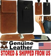 # HANDY GENUINE LEATHER CASE COVER - BELT LOOP & HOOK HOLSTER FOR MOBILE PHONES