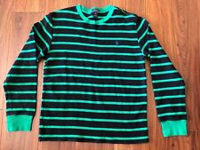 a9f3f17cc6 Polo Ralph Lauren Youth Kids Thermal Sweater Size XL Green Black Striped