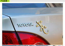1 x 3D ORO Gecko Badge Auto Adesivo Art-NUOVO