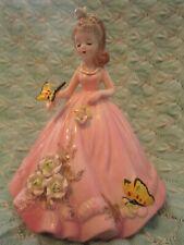 New ListingVintage Josef Originals Pink Girl w/ Butterflys Figurine rare