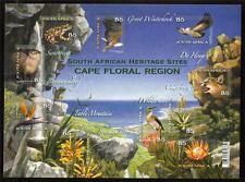 SOUTH AFRICA MNH 2011 FLORA & FAUNA DROM THE CAPE FLORAL REGION MINISHEET