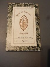 BOOKPLATE AMBLESIDE CUMBRIA  School Education  William Morris style backing 1890
