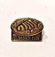 "McDonald's Bronze Club * Lapel Pin Pinback 1"" * Combine Shipping!"