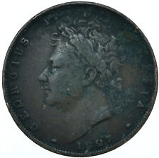 More details for 1827 farthing gb uk george iv collectible coin very nice   #wt27945