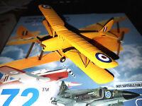 DeHavilland DH82A Tiger Moth RAF - Scala 1:72 Die Cast - 72 Aviation - Nuovo