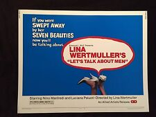 Vintage 1976 Lina Wertmuller's Let's Talk About Half Sheet Movie Poster 22 x 28