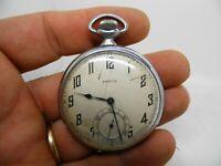 montre gousset ZENITH échappement a ancre boite chromée diamètre 45 mm