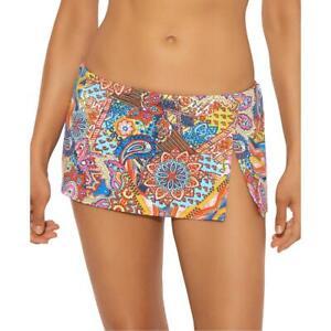 Bleu Rod Beattie Womens Orange Printed Hipster Beachwear Swim Skirt 14 BHFO 1246