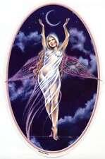 CRESCENT MOON SILVER GODDESS WICCA FAIRY STICKER/VINYL DECAL by Selena Fenech