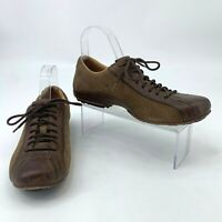 Fossil Suede Leather Shoes Men's Size 7 Brown Lace Up Low Top Casual Sneaker
