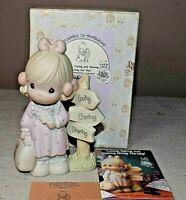 Precious Moments Loving Caring & Sharing Along the Way 1992 Figure w/Box C0013