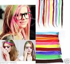 New Women Multi Color Long Straight Synthetic Clip in on Hair Extensions 1pc PW
