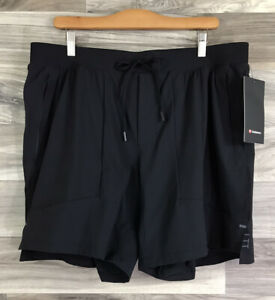 """Lululemon License To Train Short 7"""" Lined Built In Luxtreme Size XXL Black 75398"""