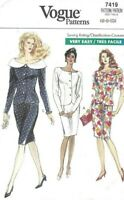 Vogue Sewing Pattern 7419 Very Easy Suit, Skirt and Jacket Top, Size 6 8 10 New