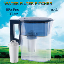 Water Pitcher Jug Purifier 2.5 L Reduces limescale +Filter Compatible With Brita