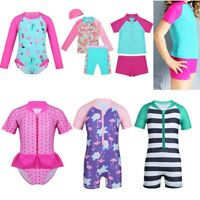 Toddler Kids Baby Girls Swimsuit Swimwear Bathing Beachwear UPF 50+ Rash Guard