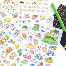 6 Sheets Cute Cartoon Japanese Decorative Stickers DIY PVC Stationery Sticker