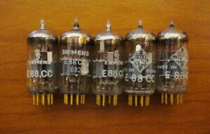 5 x Röhren E88CC Goldpin Roehren 3x SIEMENS 2x TELEFUNKEN