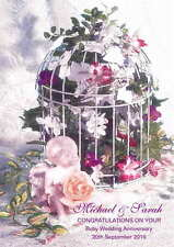 Personalised Ruby 40th Wedding Anniversary Card