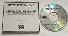RARO PROMO CD SINGOLO PETE TOWNSHEND INTERVIEW WITH A PSYCHODERELICT  THE WHO