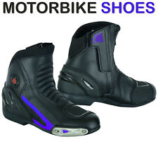 New Motorcycle Motorbike Touring Boots Leather Waterproof Bike Riding UK Sizes