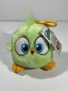 """New Angry Bird Hatchlings Green Bird Clip On Plush 4"""""""