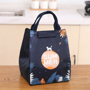 1Pcs Childrens Adult Lunch Bags Insulated Cool Bag Picnic Bags School Lunch Box