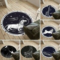 Animal Astronaut Non-slip Round Soft Area Rug Floor Carpet Door Mat Home Decor