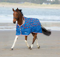 Shires Tempest Ladybird Print Lightweight Waterproof Turnout Horse Rug No Fill