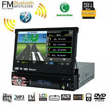 1 Din 7'' Car Stereo CD/DVD Player Bluetooth Audio Video Stereo GPS iPod Map AUX