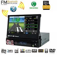 "7"" Touchscreen 1Din Car Radio CD/DVD Player Bluetooth Audio Video Head Unit GPS"
