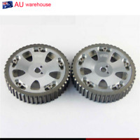 2Pcs Cam Gears Pulley Aluminum For MITSUBISHI EVO 1 2 3 4 5 6 7 8 9 ECLIPSE 4G63