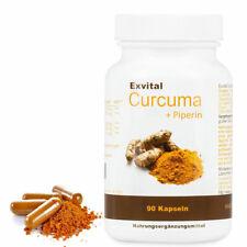 Exvital Curcuma + Piperin - Curcumin hochdosiert, 480mg, Kurkuma, Vegi