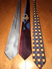 VERSACE TIES LOT OF 3 Neck Ties Gianni Versace, Versace, V2 Medusa Silk  ITALY