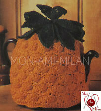 "VINTAGE CROCHET PATTERN to make a PINEAPPLE TEA COSY Fruit Teapot Cover 7"" DK"