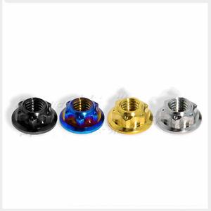 2pcs Titanium alloy M8 M10 M12 M14 Motorcycle Rear Axle Nut Motor Nuts