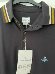 Mens Vivienne Westwood Black polo shirt, xxl, new with tags.