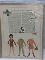 1966 VINTAGE BETSY MCCALL Trip to Yellowstone PAPER DOLLS UNCUT UNUSED