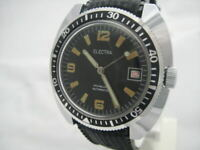 NOS NEW VINTAGE BIG AUTOMATIC WITH DATE ELECTRA DIVERS ANALOG MEN'S WATCH 1960'S