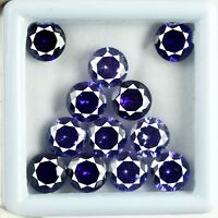 Loose Gemstone Lot 48 Ct/12 Pcs Purple Sapphire Natural Round AGSL Certified